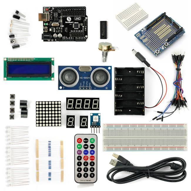 UNO R3+Distance Sensor Starter Kit with 19 Basic Arduino Projects, SAINSMART