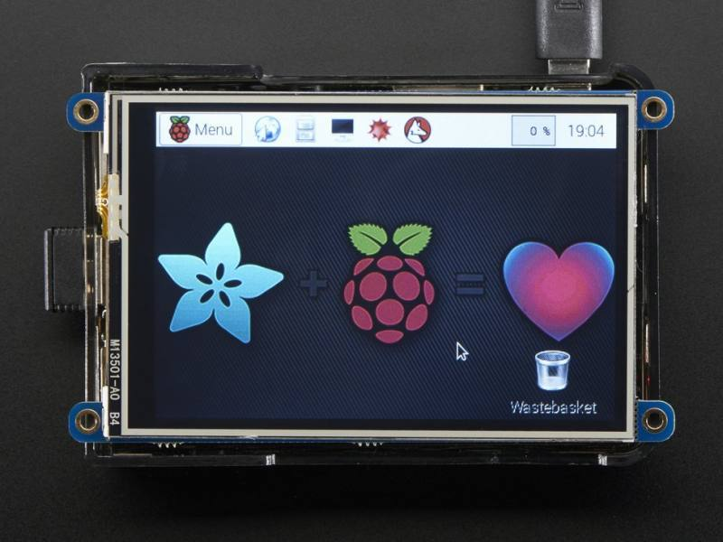 PiTFT Plus 480x320 3.5'' TFT+Touchscreen for Raspberry Pi, ADAFRUIT INDUSTRIES