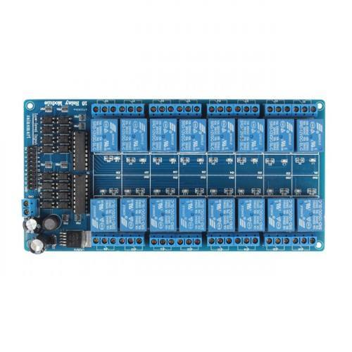 16-Channel 12V Relay Module For PIC ARM AVR DSP Arduino MSP430 TTL Logic, SAINSMART
