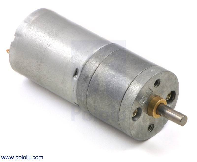 99:1 Metal Gearmotor 25Dx54L mm HP 12V, Pololu Robotics and Electronics