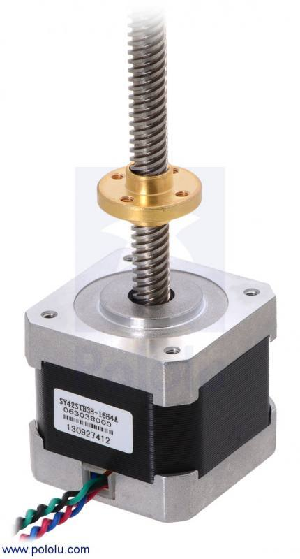 Stepper Motor with 28cm Lead Screw, Pololu Robotics and Electronics