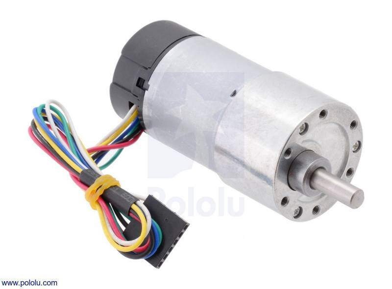 30:1 Metal Gearmotor 37Dx68L mm with 64 CPR Encoder, Pololu Robotics and Electronics