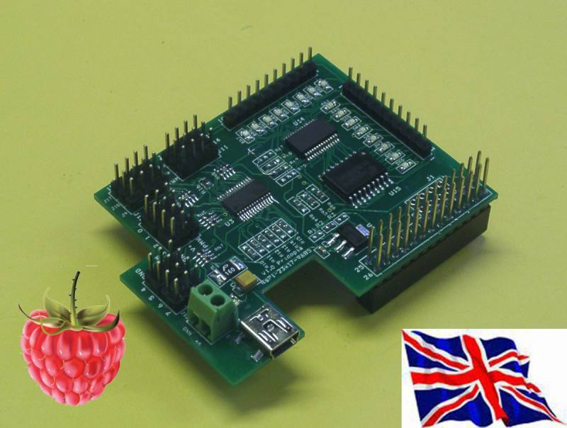I2C 16 channel PWM Servo & 23017-1 16 GPIO board for Raspberry Pi, Pridopia Limited