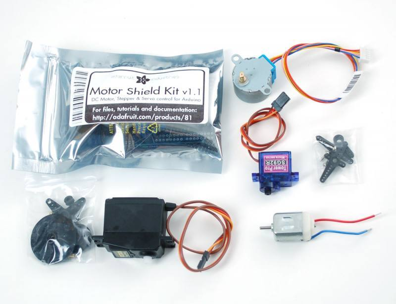 Motor party add-on pack for Arduino, ADAFRUIT INDUSTRIES