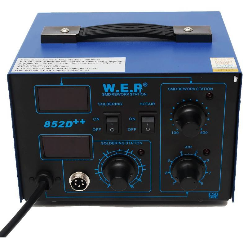 Станция паяльная W.E.P 852D++, Guangzhou Yihua Electronic Equipments Co,.ltd.