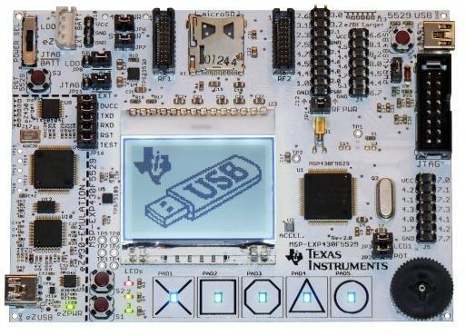 MSP-EXP430F5529, Texas Instruments