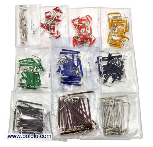 250-Piece Short Jumper Wire Kit, Pololu Robotics and Electronics