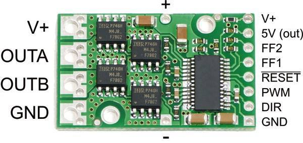 High-Power Motor Driver 24v12, Pololu Robotics and Electronics