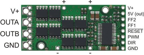 High-Power Motor Driver 24v20, Pololu Robotics and Electronics