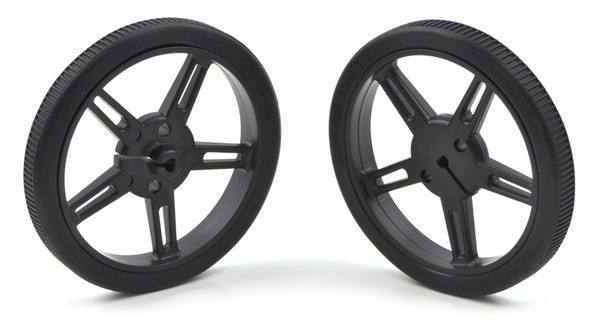 Wheel 60x8mm Pair - Black, Pololu Robotics and Electronics