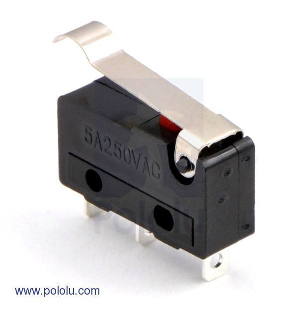 Snap-Action Switch with 15.6mm, Pololu Robotics and Electronics