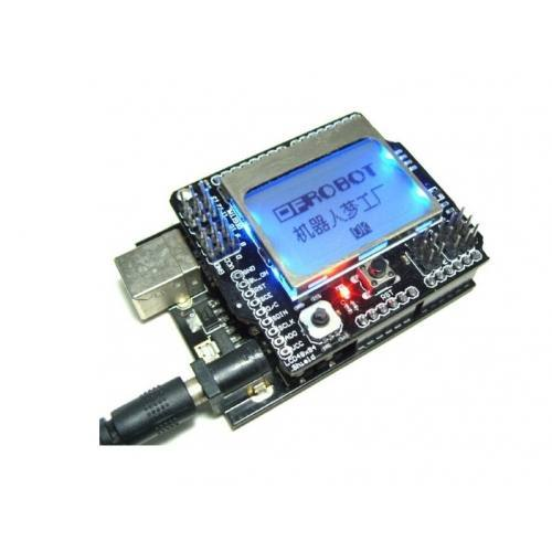Graphic LCD4884 Shield For Arduino, DFRobot