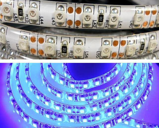 LED strip 3528-120B-8MM-12V-9.6W IP54 5m,