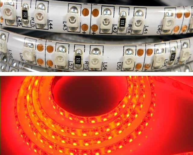 LED strip 3528-120R-8MM-12V-9.6W IP54 5m,