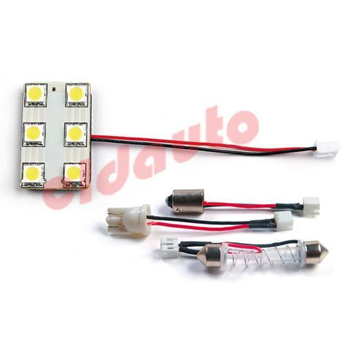 Лампа подсветки салона LED-L23C-6 под цоколь BA9S. W2.1x9.5D. SV8.5 [white], Changzhou CLD auto electrical Co., Ltd.