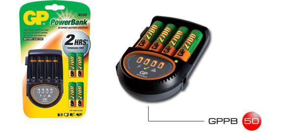 CHARGER PB50GS270CA-UE4+[4x270AAH]+DC car cord, Gold Peak Batteries International Ltd.