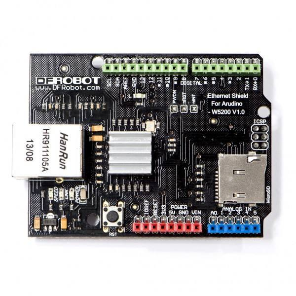 Ethernet Shield for Arduino - W5200, DFRobot
