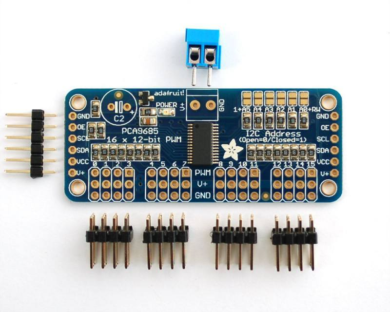 16-Channel 12-bit PWM/Servo Driver - I2C interface - PCA9685, ADAFRUIT INDUSTRIES
