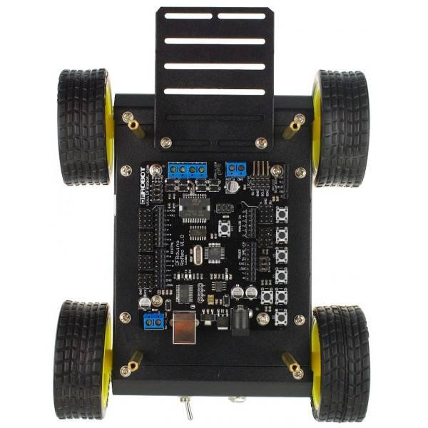 4WD Mobile Platform [with Romeo All-in-one Controller], DFRobot