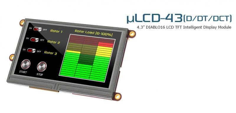 uLCD-43DT, 4D Systems
