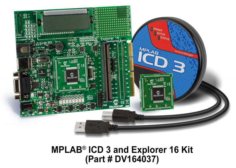 Explorer 16 Development Board with ICD3 Bundle DV164037