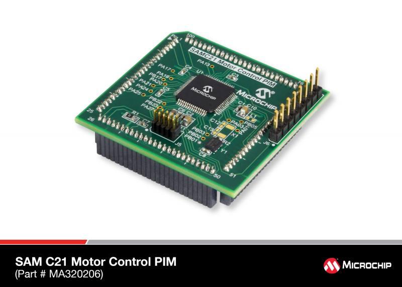 Типовое решение ATSAMC21 Motor Control Plug In Module