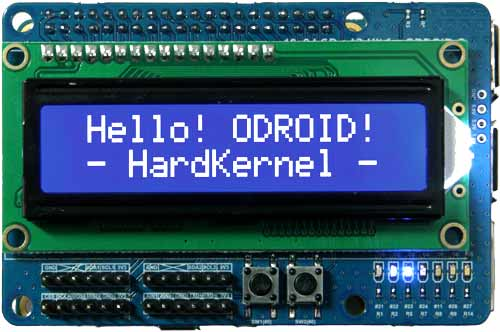 16x2 LCD + IO Shield, ODROID