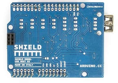 A000004 (Arduino USB HOST SHIELD). Вид снизу