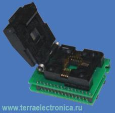 Conv DIL32/PLCC32 ZIF-CS  (70-0274) - универсальный адаптер c ZIF колодкой