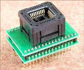 Универсальный адаптер для микросхем в корпусе PLCC32 с ZIF колодкой Conv DIL32-PLCC32Z
