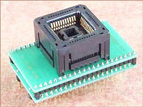 Универсальный адаптер для микросхем в корпусе PLCC44 с ZIF колодкой Conv DIL44-PLCC44Z