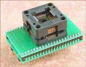 Универсальный адаптер для микросхем в корпусе TQFP44-1 c ZIF колодкой Conv DIL44-TQFP44-1Z