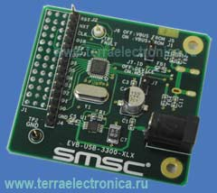 DL-EVB-USB3300-XLX - дочерняя плата с USB интерфейсом на базе ИМС USB3300