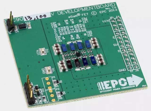 Отладочная плата EPC9013 на основе четырех параллельных полумостов