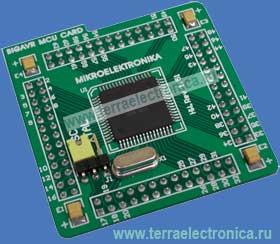 ME-BIGAVR MCU128 CARD - мезонинная плата для совместного использования с отладочной платой ME-BIGAVR