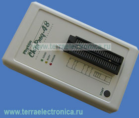 ChipProg-48 - универсальный программатор с USB-интерфейсом для программирования микросхем памяти, микроконтроллеров и программируемых логических схем