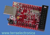 SAM7-H64 - отладочная плата фирмы OLIMEX для микроконтроллера AT91SAM7S64 ARM7TDMI-S