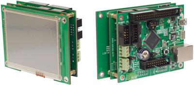 Микроконтроллерная система на основе TE-ULCD35 и TE-STM32F107