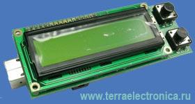 Отладочная плата форм-фактора мини-терминал с ЖКИ на базе ARM  микроконтроллера ADuC7020