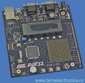 AT EVK1100 – отладочная плата 32-разрядных контроллеров фирмы Atmel AVR32UC3