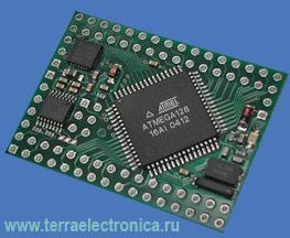 AVR-CRUMB168 - высокоинтегрированная плата с большой плотностью монтажа для построения и отладки систем на базе микроконтроллера ATmega168