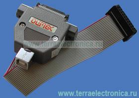 ARM-USB-TINY – USB-JTAG эмулятор. Отличается от ARM-USB-OCD отсутствием преобразователя интерфейсов USB-RS-232 и источника питания