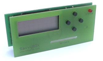 Дисплей с кнопками и слотом для считывателя карт для подключения к отладочной плате AVR-SAVVY128