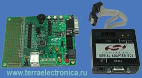 C8051F320DK - стартовый набор для знакомства с семейством микроконтроллеров компании SILABS с USB интерфейсом - C8051F320/F321