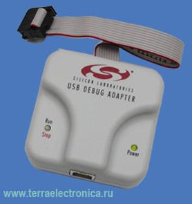 Последовательный адаптер с интерфейсом USB для программирования всех микроконтроллеров SILABS