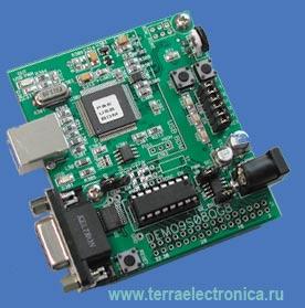 Демонстрационная плата для микроконтроллеров типа MC9S08QG8