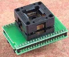 Специализированный адаптер с ZIF колодкой для микроконтроллеров Atmel в корпусе TQFP44
