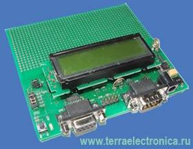 EU-KIT-MB90F387-CAN - контроллер-конструктор для макетирования устройств, проектируемых на базе 8-разрядных микроконтроллеров FUTJITSU - MB90F387