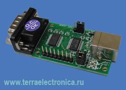EVAL232R – типовое решение организации моста от традиционного интерфейса RS-232 к USB на базе микросхемы FTDI FT232RL