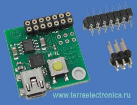 IDWARF-HUBBOARD - высокоинтегрированная плата USB адаптера для подключения к компьютеру модулей IDWARF-168